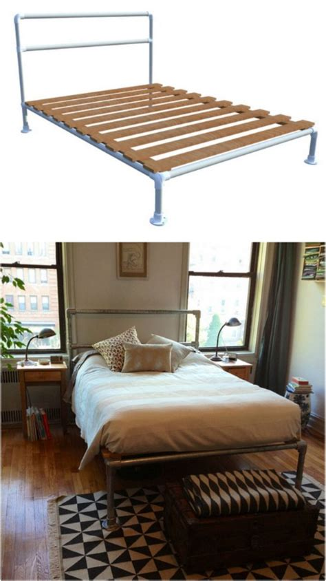 diy pipe bed frame 21 diy bed frame projects sleep in style and comfort diy crafts