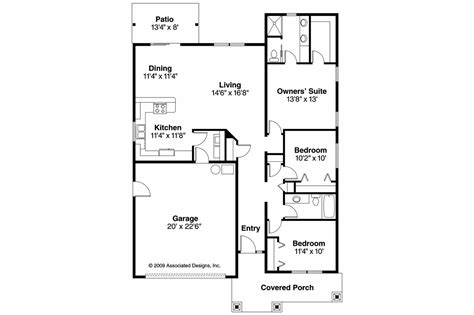 Open Kitchen Living Room Floor Plans by Cottage House Plans Preston 30 675 Associated Designs