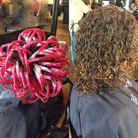 gray and pink rods permed hair the 25 best spiral perm rods ideas on pinterest perm