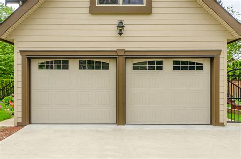 which is better one residential garage door or 2