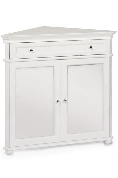 Hton Bay 32 Quot W Corner Cabinet With Two Wood Doors Wood Corner Storage Cabinet With Doors