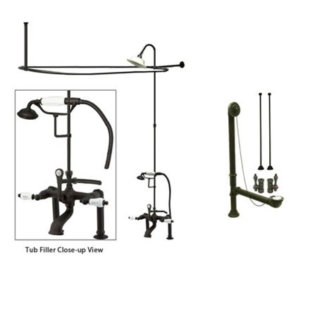Used Clawfoot Tub Shower Kit by Rubbed Bronze Clawfoot Tub Faucet Shower Kit With