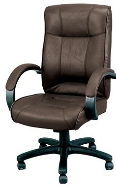 brown leather office chair le9406brn from boca raton