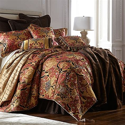 coral king bedding buy austin horn classics ashley california king comforter set in coral from bed bath