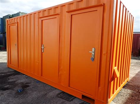 Office Container 20 Ft Toilet container conversion studies 18ft ply lined office and store cs24470 163 9140 00