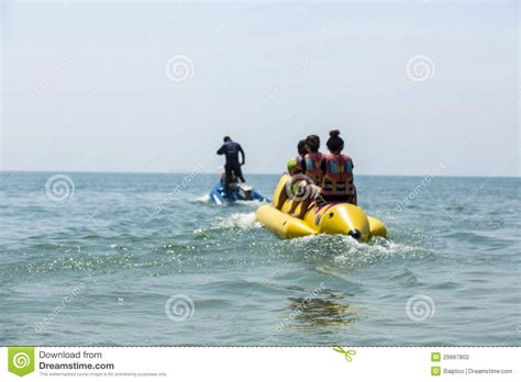 Banana Boat Blue banana boat in blue sea and clear sky editorial stock photo image 29997803