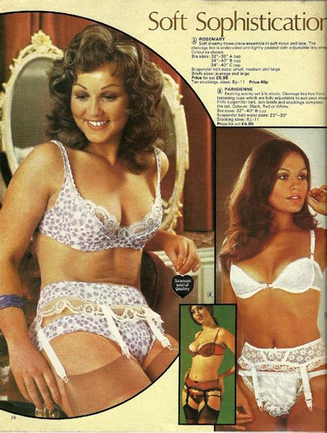 High End Home Decor Catalogs catalogue page for lingerie from the 70ies probably