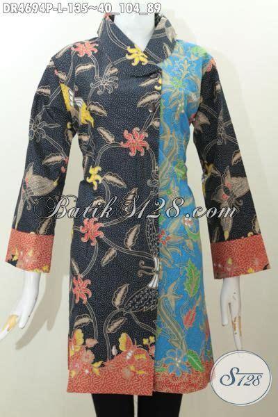 Baju Kerja Baju Jawa Basofi Rapih Banget dress batik modis warna kombinasi baju batik elegan dan berkelas bahan halus proses printing