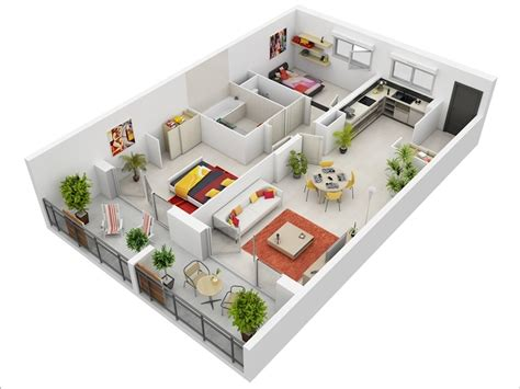 2 bedroom apartments floor plans 10 awesome two bedroom apartment 3d floor plans