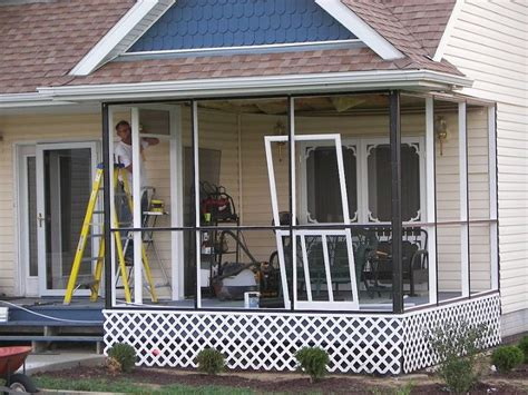 Patio Screening Systems by Screen Tight Porch Screening System How To And Review