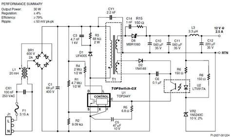 schema alimentatore switching acal bfi presenta la propria serie di componenti ad alte