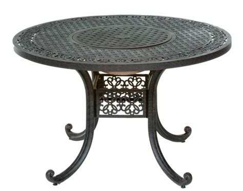 Meadow Decor Athena 48 Inch Round Aluminum Patio Table 48 Inch Patio Table