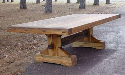 Custom Slab Tables Amp woods make extendable farmhouse table plans