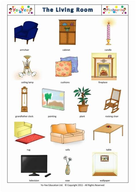 word for living room living room vocabulary engleza la grădi