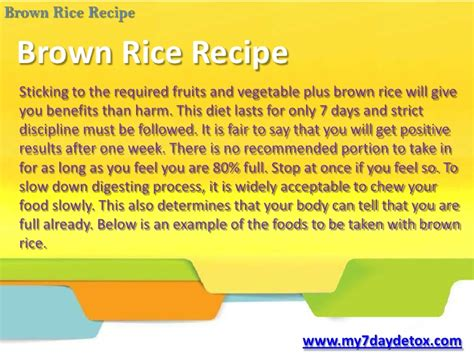 Brown Rice Detox Results by 006 My 7 Day Detox Fast Way To Cleanse With Brown