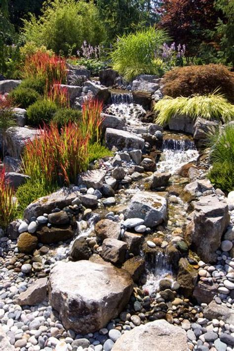 create a creek bed water feature in your back yard