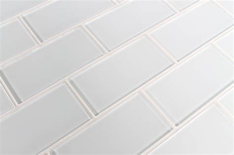 snow white 3 quot x 6 quot glass subway tile traditional tile vancouver by rocky point tile