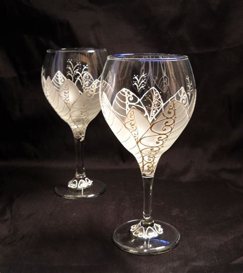 Decorated Wine Glass by The World S Catalog Of Ideas