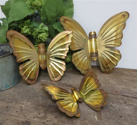 vintage metal butterfly wall home decor butterflies set of