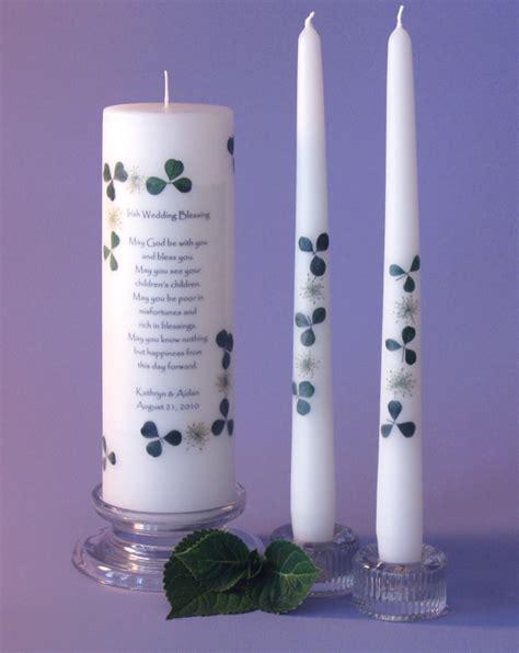 Wedding Blessing Unity Candle Set by Wedding Blessing Unity Candle Set 2 Corner Design
