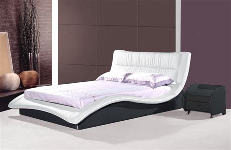Moderne Betten 160x200 designer leather bed quot helena quot white with black modern