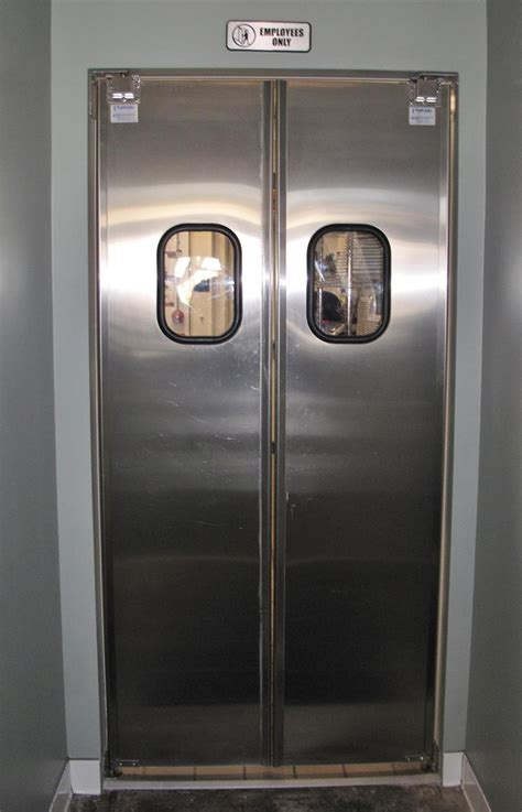 double swinging kitchen doors restaurant kitchen double swing doors stainless steel