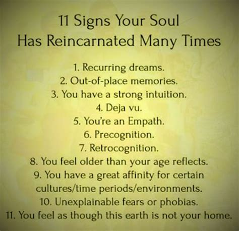 11 signs your soul has reincarnated many times