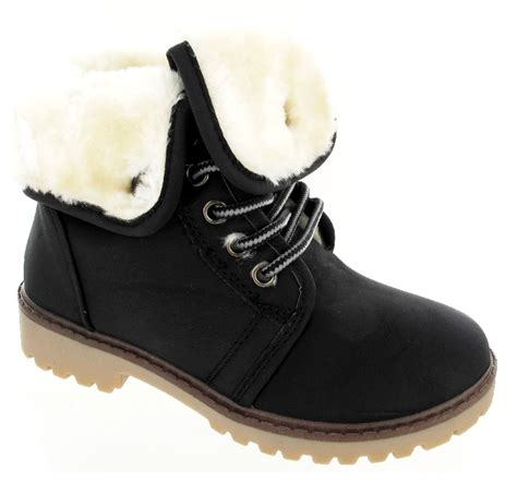 winter flat shoes boys flat ankle boots childrens winter fur lined