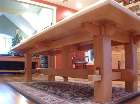 Hooker Dining Room Tables craftsman timber frame furniture asian dining tables
