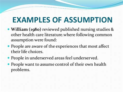 exle of assumption in research paper assumption and delimitation