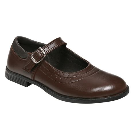 school shoe kate buckle brown toughees school shoes