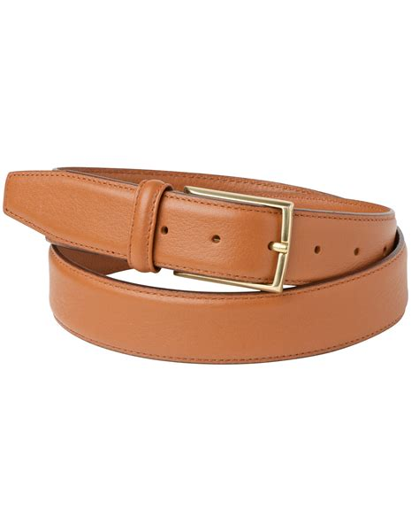 jaeger grained leather belt in brown for camel lyst