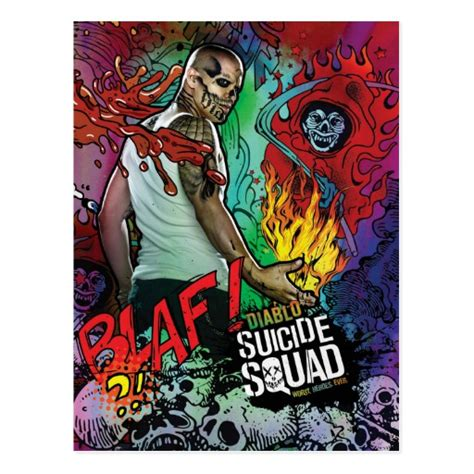 squad diablo character graffiti postcard zazzle