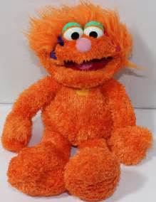 zoetoys baby chunky sesame place zoe orange bean filled stuffed plush doll