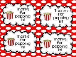 Thanks For Popping By Free Printable
