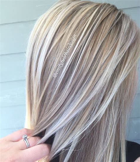 will pale ash blonde highlights blend with gray and brown hair pin by tracy milewski on hair and such pinterest emily