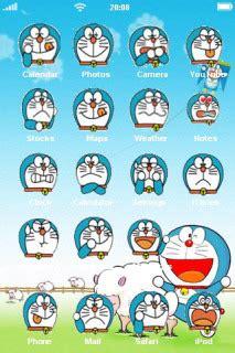 themes cartoon doraemon download funny face of doraemon iphone theme apple theme