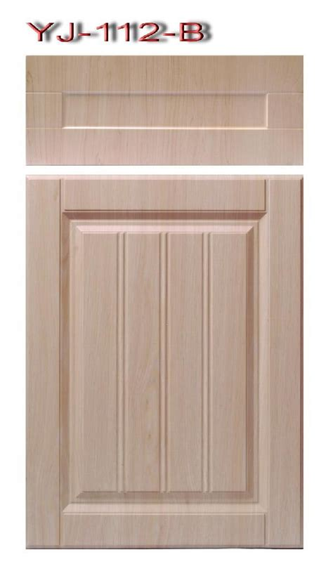 China Kitchen Cabinets pvc thermo foil faced mdf for cabinet door yj 112 b yi