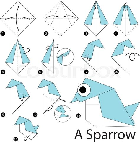 How To Make An Origami Sparrow - step by step how to make origami a sparrow