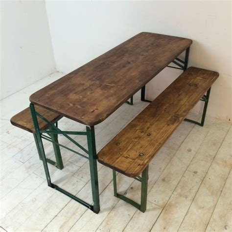 german beer bench and table customised length vintage german beer table and benches