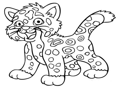 free coloring pages animals jaguar animal coloring pages realistic coloring pages