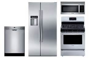 Kitchen Appliance Packages Abt Bosch Stainless Steel Appliance Package With Gas Range