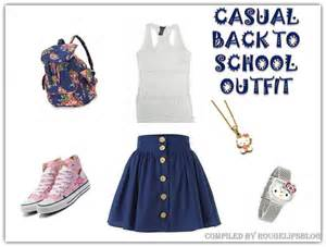 Look of the week a casual back to school outfit rougelips
