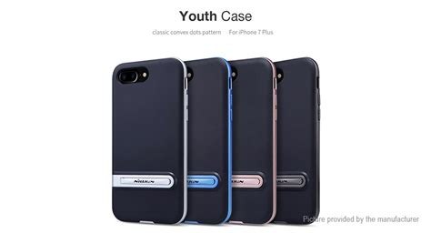 Nillkin Youth Kickstand For Iphone 7 Black 7 45 nillkin youth series protective back cover for iphone 7 plus authentic w kick