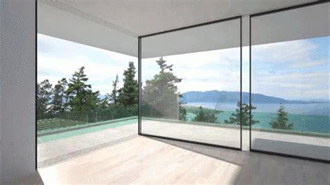 glass wall house 1 e architect these glass walls slide around corners to disappear from