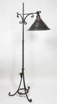 arts and crafts wrought iron floor lamp at 1stdibs