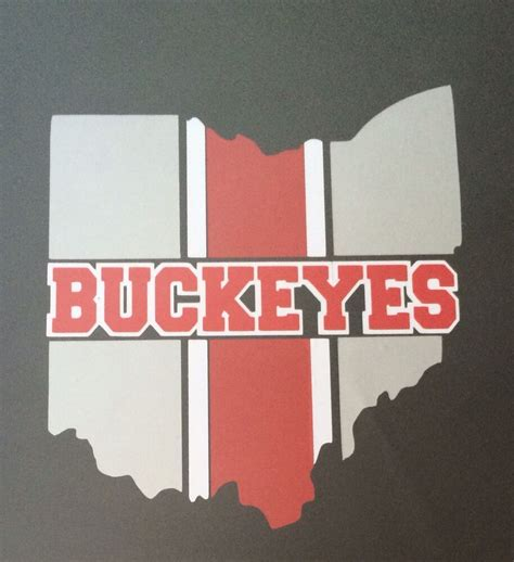 ohio state buckeye decal 3 colors silver white 12