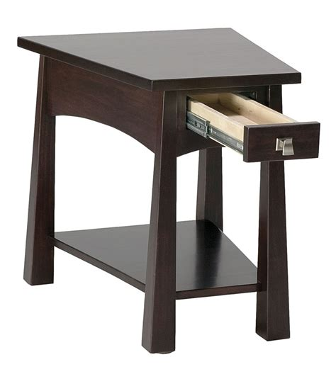 Wedge Side Table With Drawer by Precision Crafted Living Room Flush Wedge 1 Drawer End