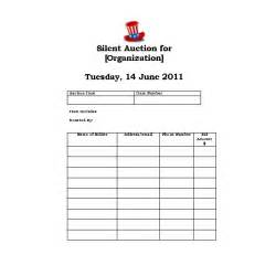 silent auction template free looking for an auction bidder card template we five