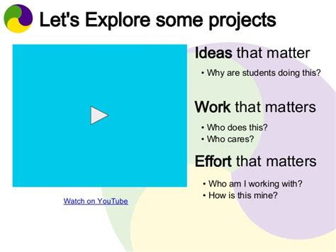 ideas that matter it matters three ideas to move from projects to pbl